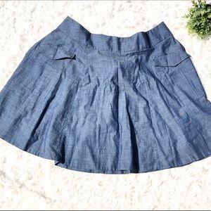 eShakti Women's Light Chambray Skirt Size 3X